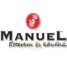 Manuel Étterem és Kávéház logó